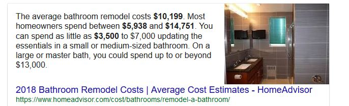 bathroom costs